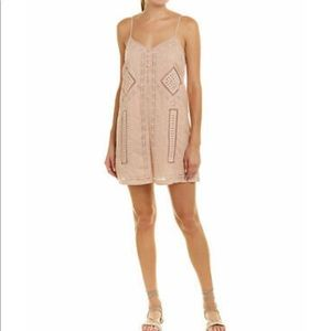 NWT BCBG MAXAZRIA Embroidered Romper - Dusty Pink